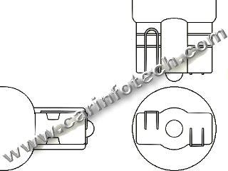 6 Volt 16,79,84,86,79 T5 Wedge 1led Concave 6 Volt Bulb