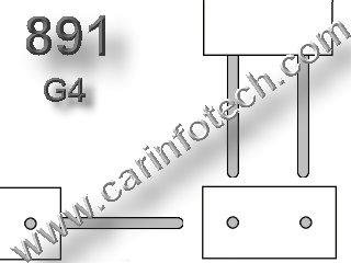 "#891 MINIATURE BULB G4 BASE - 12.8 Volt 8.06 Watt 0.63 Amp T-2 1/4 Automotive Halogen Bi-Pin (G4) Base 130 MSCP, C-6 Filament Design. 1.0"" Maximum Overall Length, 8 watts, 500 Average Rated Hours."