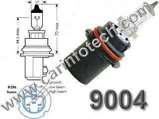 9004 P29t HB1 headlight replacement light bulb