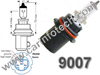 9007 PX29t HB5 headlight replacement light bulb