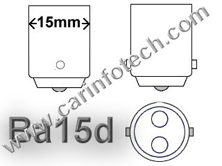 "#1142 MINIATURE BULB BA15D BASE - 12.8 Volt 1.6 Amp S8 Double Contact (DC) Bayonet (Ba15d) Base, 21 MSCP C-6 Filament Design, 1000 Average Rated Hours 2.00"" Maximum Overall Length #1142 Miniature Bulb"