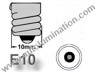 #1449, E10 MINIATURE BULB E10 BASE, 14 Volt, G-31/2, Miniature Screw Base, 52, 258, 428, 432, 1446, 1447