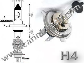 H4 9003 p43t headlight replacement light bulb