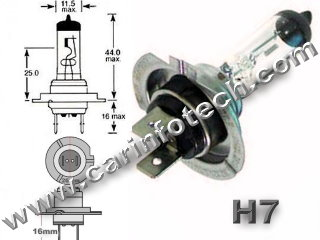 "H7 12V 55W 4.58 Amp AUTOMOTIVE HALOGEN PX26D BASE - 12.0 Volt, 55 Watt 4.58 Amp Automotive Halogen C-8 Filament, 3.62"" Maximum Overall Length, .46"" Maximum Overall Diameter 130 MSCP 200 Average Rated Hours. PX26D Base, H7"